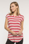 Bamboo Dreams® Cassidy Tunic - Cherry/Stripe