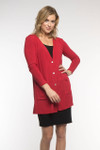 BambooDreams® Leslie Cardigan - Cherry Heather