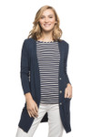BambooDreams® Leslie Cardigan - Navy Heather
