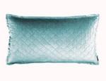 Lili Alessandra Chloe Sea Foam Velvet King Pillow