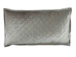 Lili Alessandra Chloe Ice Silver Velvet King Pillow