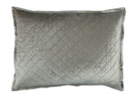Lili Alessandra Chloe Ice Silver Velvet Luxe Euro Pillow