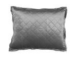 Lili Alessandra Chloe Silver Velvet Standard Pillow