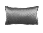 Lili Alessandra Chloe Silver Velvet King Pillow