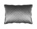 Lili Alessandra Chloe Silver Velvet Luxe Euro Pillow