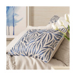 Pine Cone Hill Fossil Embroidered Indigo Sham
