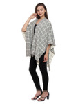 Darzzi Grid Cape - Lt Grey Melange / Natural