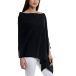 Darzzi Merino Wool Bubble Knit Poncho -  Charcoal
