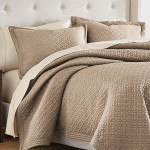 Croscill Fulton Taupe Quilt