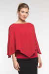 BambooDreams® Saki Poncho - Cherry Heather