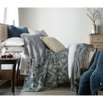Amity Home Kent Linen Bedspread - Peacock/Natural