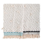 Pom Pom at Home Ziggy Throw - Ivory/Aqua