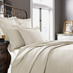 Kassatex Diamante Quilted Pillow Sham - Ivory