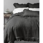 Amity Home Basillo linen Duvet Cover - Asphalt