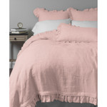 Amity Home Basillo linen Duvet Cover - Petal Pink