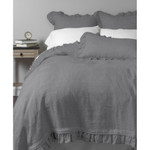 Amity Home Basillo linen Duvet Cover - Neutral Grey