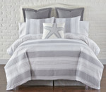 Levtex Nantucket Grey Duvet Cover Set