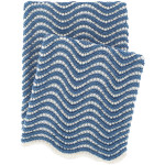 Pine Cone Hill Swell Knit Denim Throw