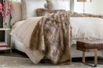 Lili Alessandra Chestnut Fur Throw