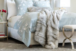 Lili Alessandra Silver Fur Throw