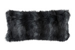 Lili Alessandra Black Fur Large Rectangle Pillow