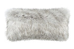 Lili Alessandra Silver Fur Large Rectangle Pillow