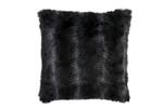 Lili Alessandra Black Fur Euro Pillow