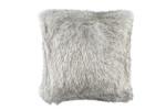 Lili Alessandra Silver Fur Euro Pillow