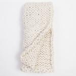 Amity Home Chunky Knit Throw - Ivory