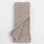 Amity Home Chunky Knit Throw - Platinum Grey