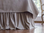 Lili Alessandra Battersea Gathered Bed Skirts - Taupe