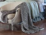 Lili Alessandra Ribbon Throw Blanket - Pewter