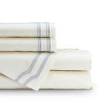 Lili Alessandra Soho Sheet Set - Ivory / Grey