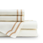 Lili Alessandra Soho Sheet Set - Ivory / Straw