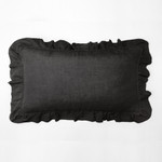 Amity Home Basillo linen Lumbar Pillow - Asphalt