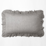 Amity Home Basillo linen Lumbar Pillow - Grey Chambray