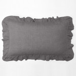Amity Home Basillo linen Lumbar Pillow - Neutral Grey