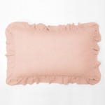 Amity Home Basillo linen Lumbar Pillow - Petal Pink