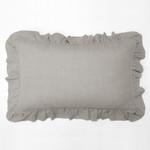 Amity Home Basillo linen Lumbar Pillow - Platinum Grey