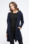 Yala Levity Jacket - Navy Plaid