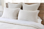 Pom Pom at Home Blake Linen Duvet Cover - Cream/Grey