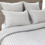 Pom Pom at Home Blake Linen Duvet Cover - Flax/Midnight
