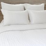 Pom Pom at Home Blake Linen Duvet Cover - White/Ocean