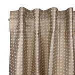 Ann Gish Coin Curtain Panel - Gold Pumice