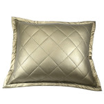 Ann Gish Faux Leather Pillow - Bronze