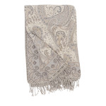 Elisabeth York Abha Throw - Grey