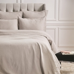 Elisabeth York Diamond Duvet Cover - Pearl Grey