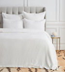 Elisabeth York Diamond Duvet Cover - White