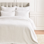 Elisabeth York Ellis Queen Duvet Cover - White