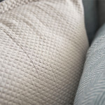Elisabeth York Diamond Sham - Pearl Grey